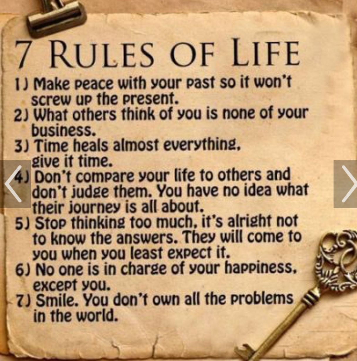 7 Rules Of Life Quote Pinyolanda  Granddaughter 7Th Gen Of Jose Antonio Navarro