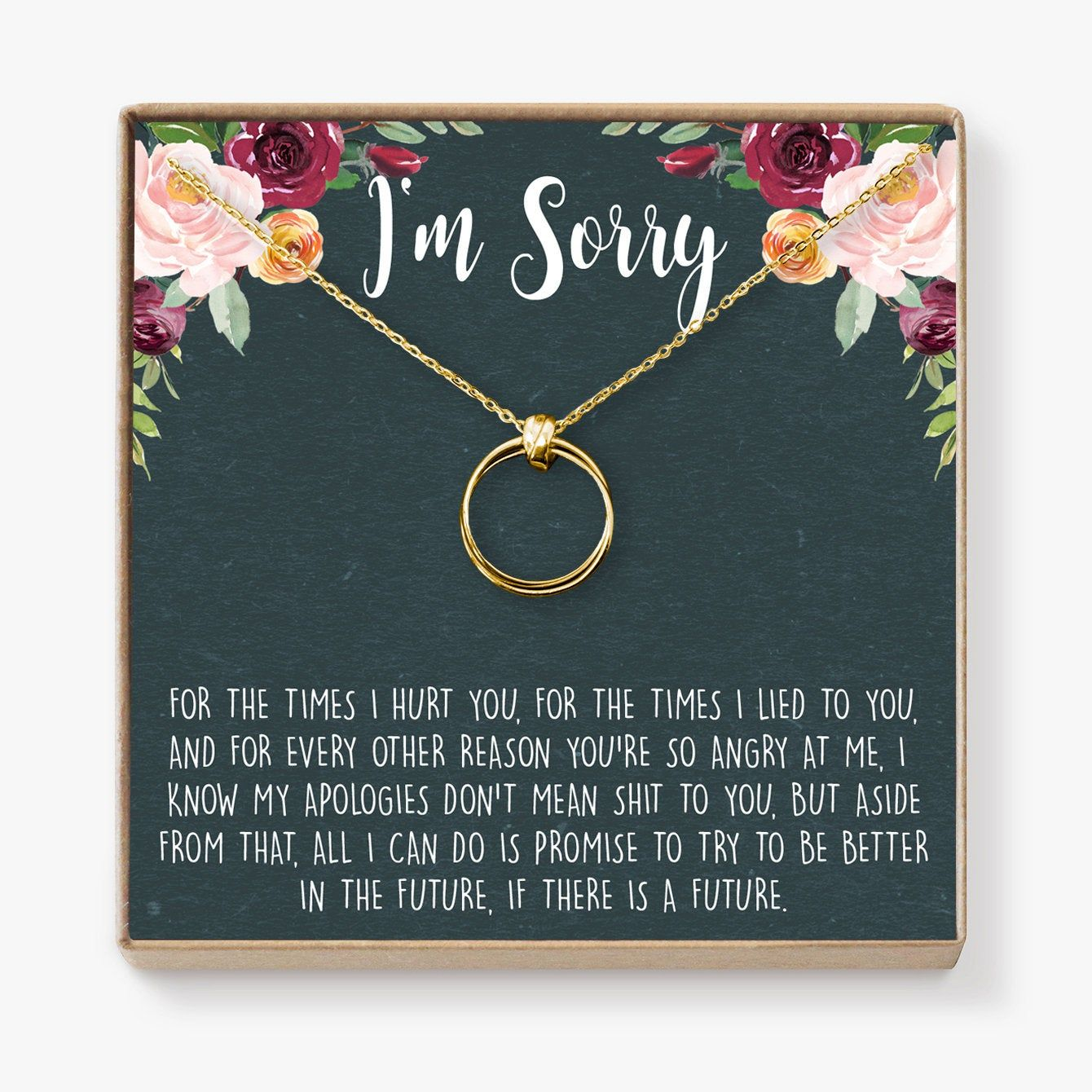 Apology Gift Necklace For Her Gift To Say You Re Sorry To