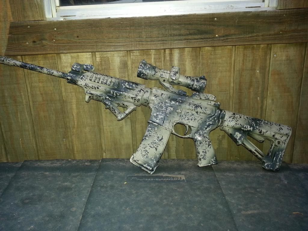 DPMS Oracle with homemade Duracoat camouflage. | Tactical ...