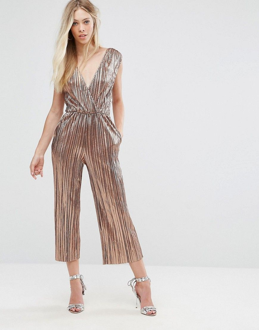 1c2533b158d OH MY LOVE PLEATED GRECIAN WRAP FRONT JUMPSUIT - GOLD.  ohmylove  cloth