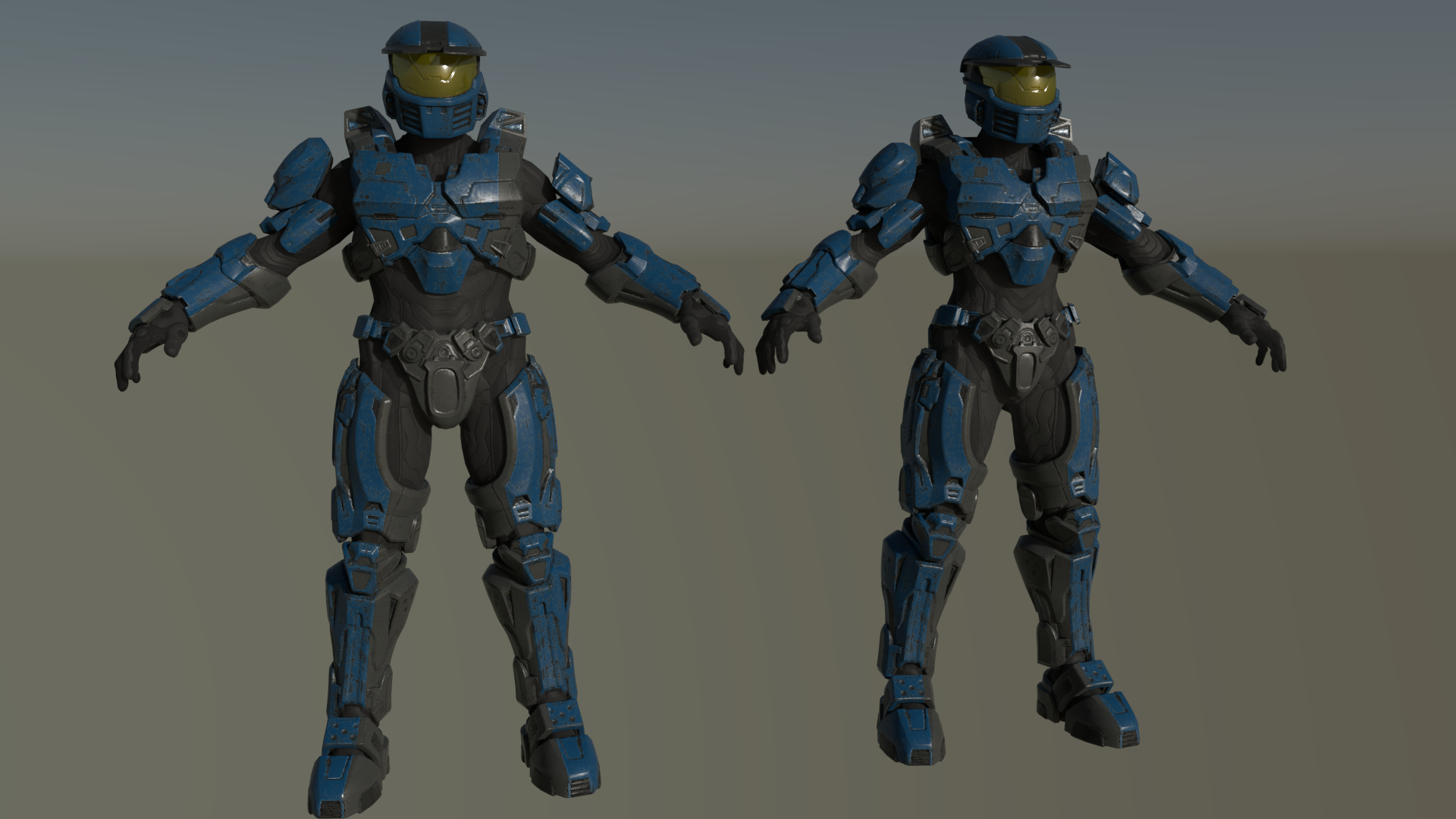 Halo 5 Mark Iv Characters Blender By Grouptree24 Red Vs Blue Halo Halo 5