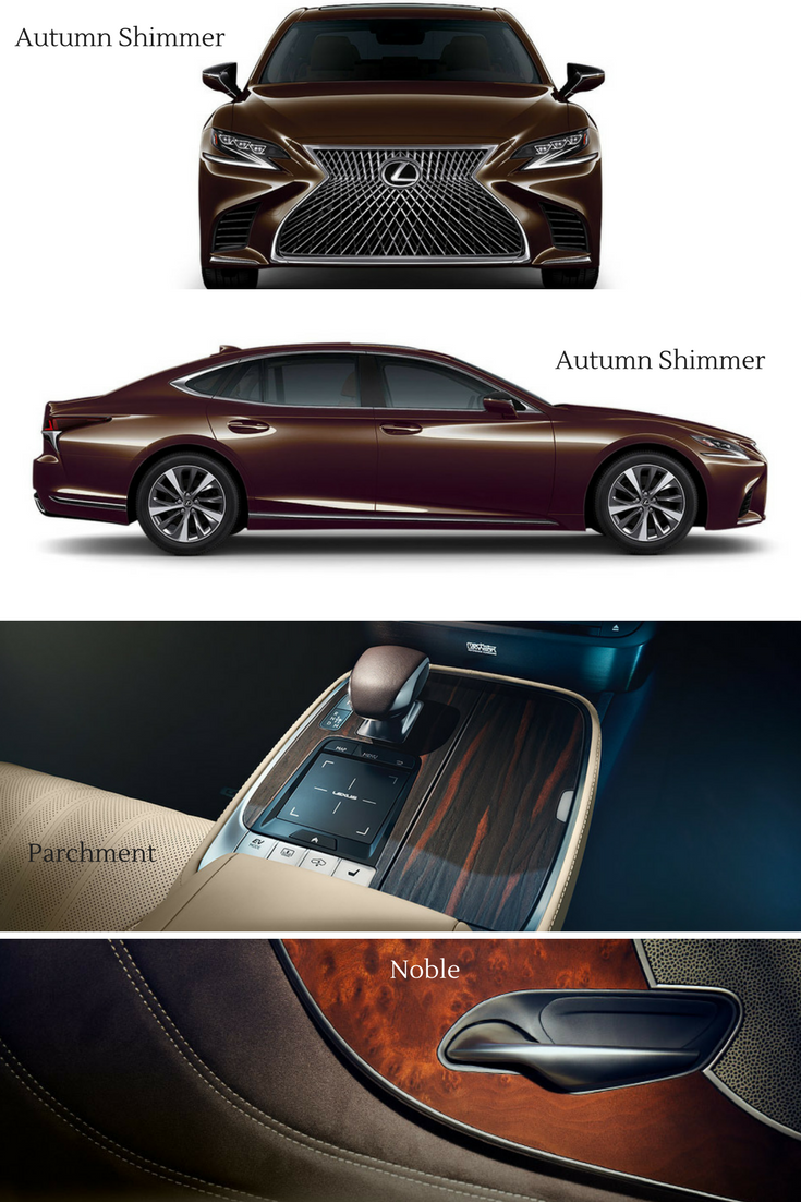 Lexus Ls 500 In Autumn Shimmer With The Parchment And Noble Brown