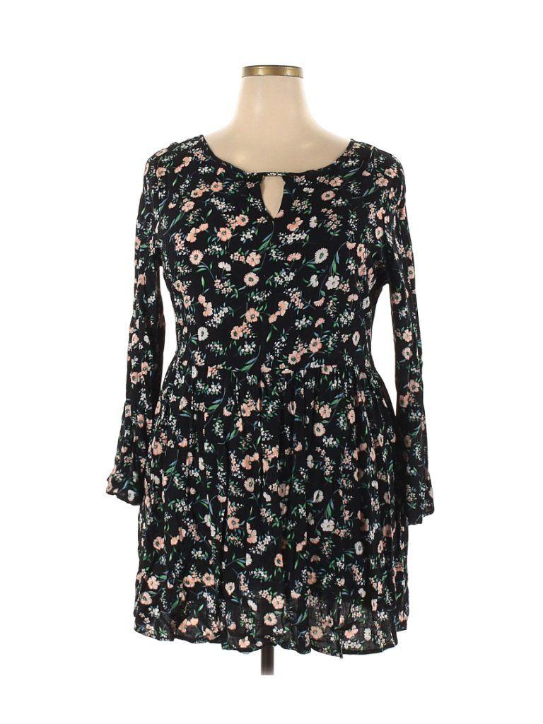 Yumi Casual Dress A Line Black Floral Dresses Used Size 18 In 2021 Floral Dress Black Casual Dress Dresses [ 1024 x 768 Pixel ]