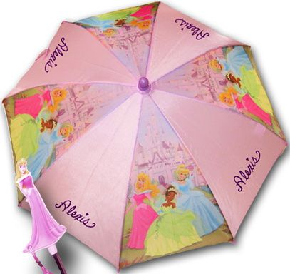 Personalized Disney Princess Umbrella - most popular accessory for little girls. So cute!