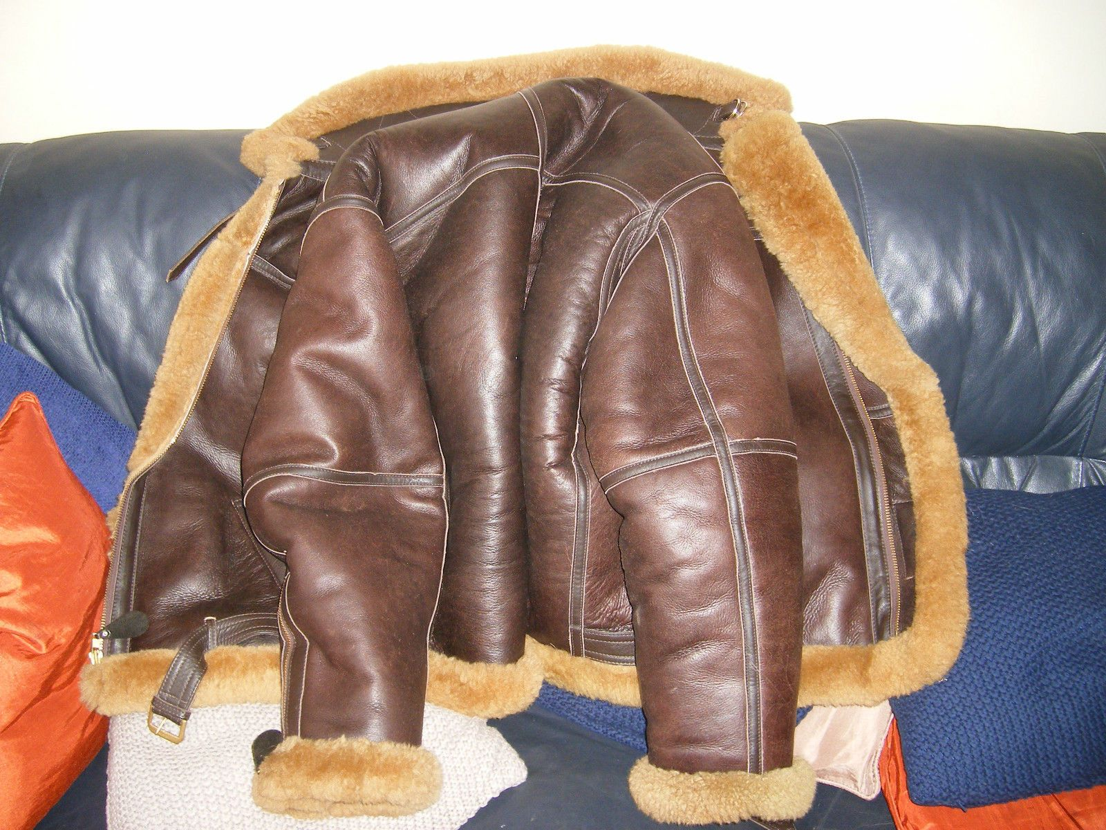 Genuine Irvin Sheepskin Flying Jacket Used Three Times Size 46 L ...