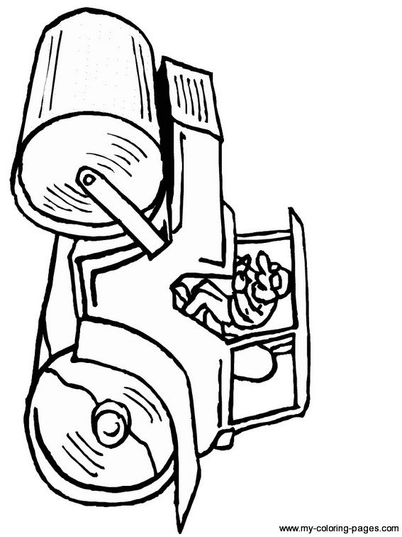 steamroller compacter | coloring pages | pinterest - Construction Worker Coloring Pages