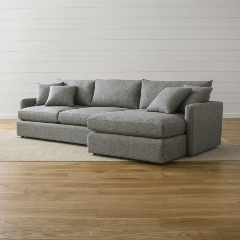 Lounge Ii Light Grey Fabric Sectional Sofa Reviews Crate And Barrel Grey Sectional Sofa 2 Piece Sectional Sofa Crate And Barrel Sectional