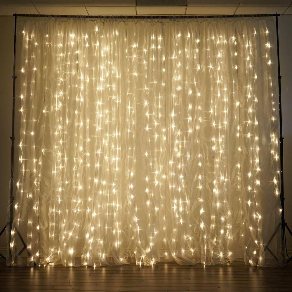18ft X 9ft 600 Sequential White Led Lights Big Photography Organza Curtain Backdrop Light Backdrop Wedding Lights Curtain Backdrops