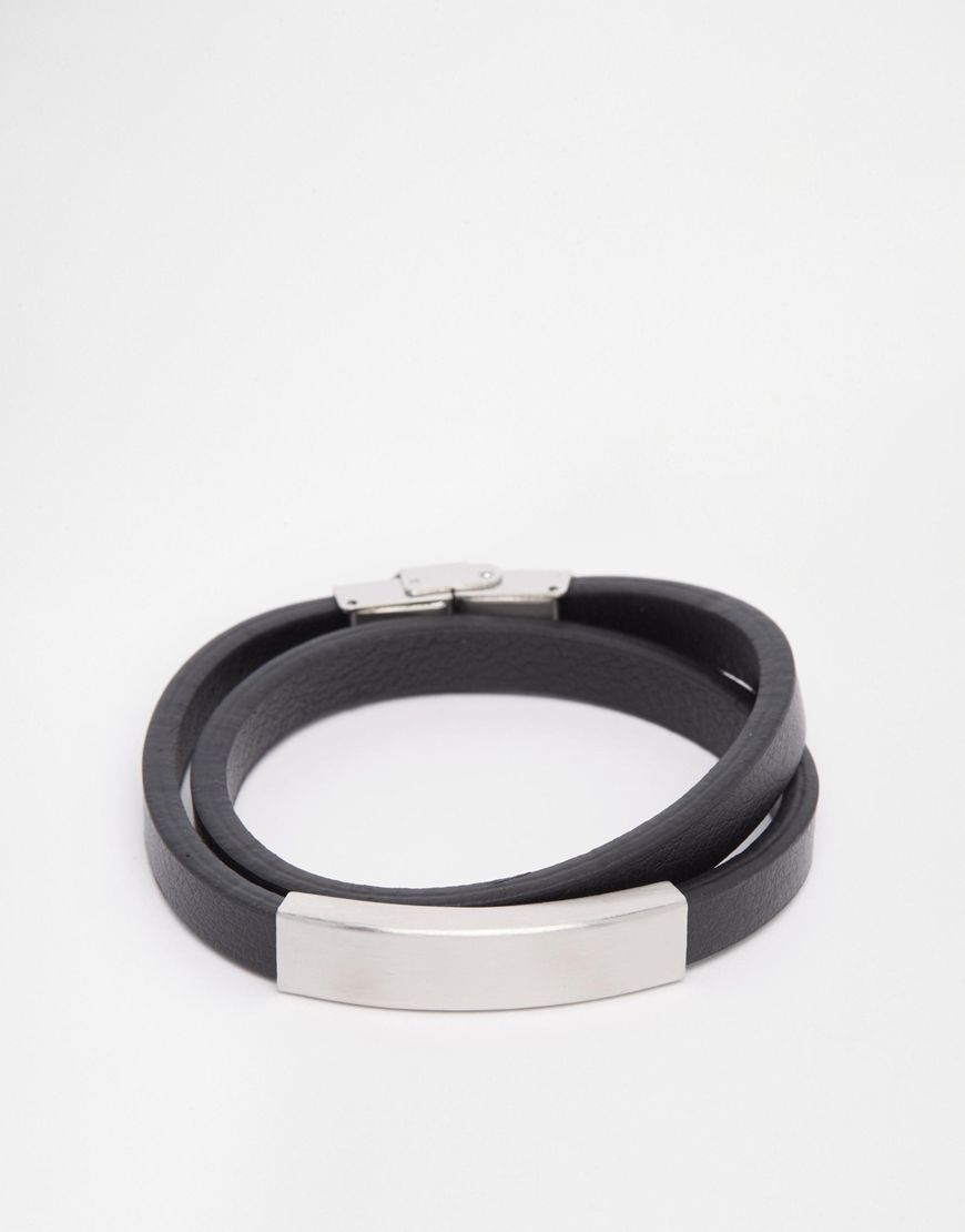 Bracelet by Seven London Smooth, leather band Wrap around design ... cbd5e8c8831