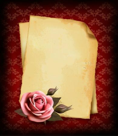 قديم للتصميم2014 شهادات تقدير للكتابه خلفيات ورود كلاسيك 13803984323 Png Paper Frames Old Paper Rose Background