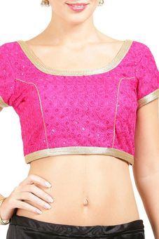 6fb7e6dff16de0 Pink Art Silk Blouse by Tresorhouse