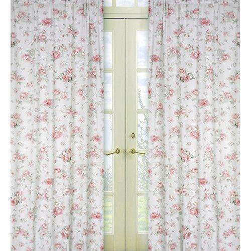 Found it at Wayfair - Riley's Roses Cotton Curtain Panel