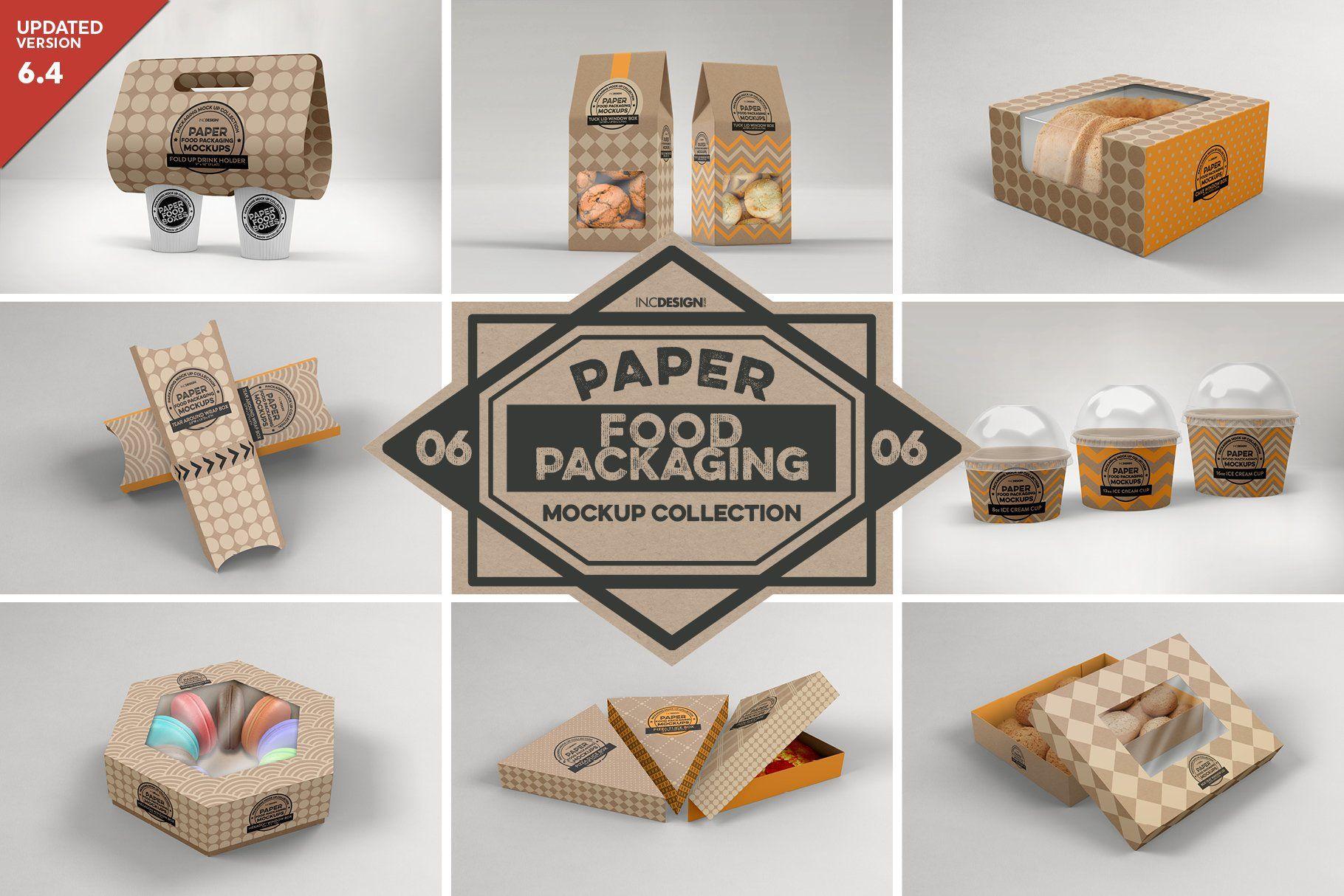 Download Vol 6 Food Box Packaging Mockups Food Box Packaging Packaging Mockup Design Mockup Free