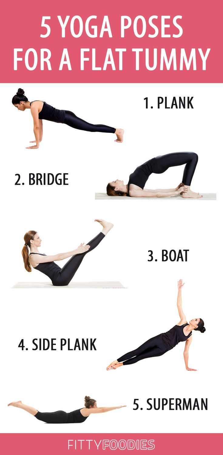 5 Yoga Poses For A Flat Tummy - FittyFoodies - Yoga fitness - #fitness #FittyFoodies #Flat #Poses #T...
