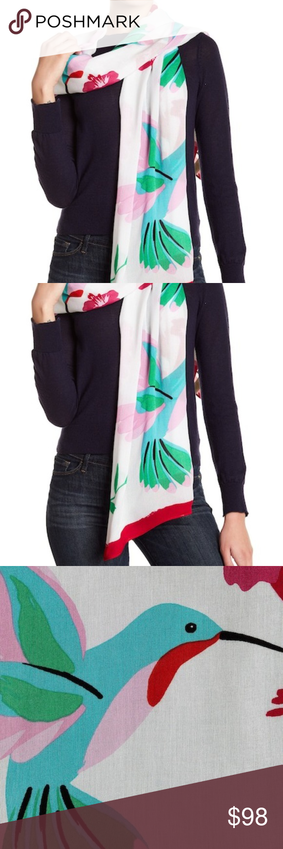 Kate spade new york hummingbird scarf nwt my posh picks