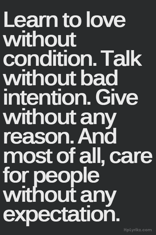 Everyone should live by this Like this.