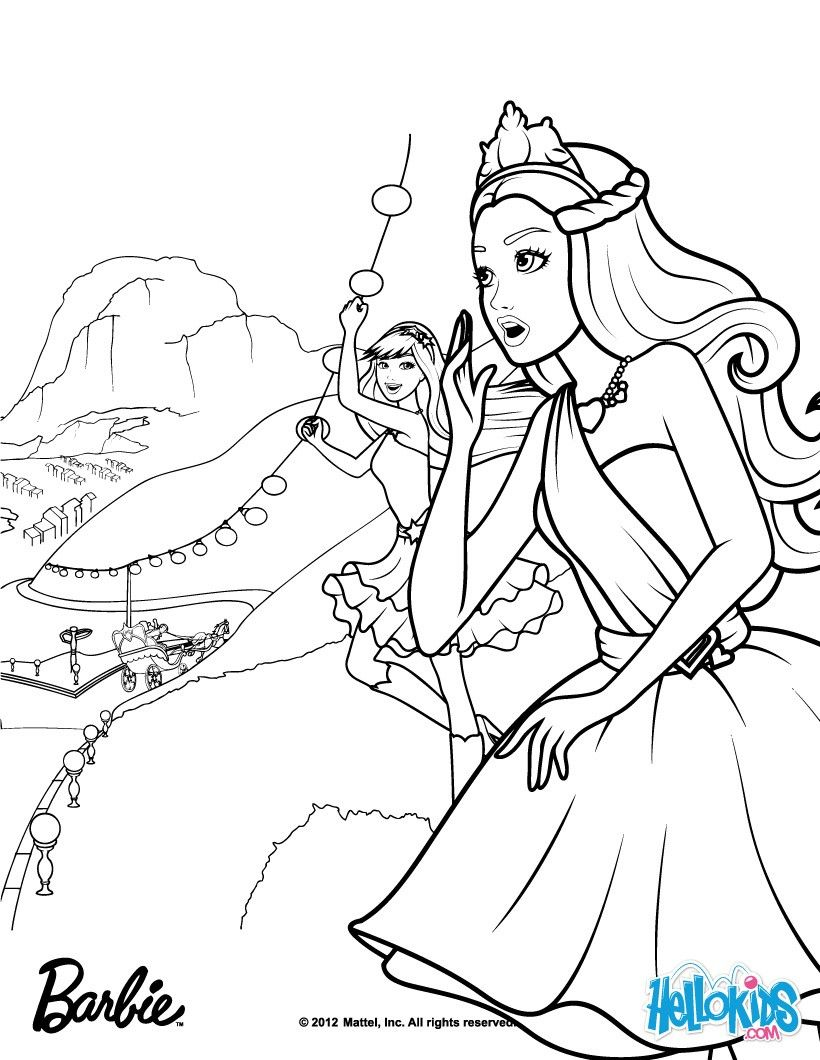 Tori Keria Go To Gardenias Rescue Barbie Coloring Page More The Princess