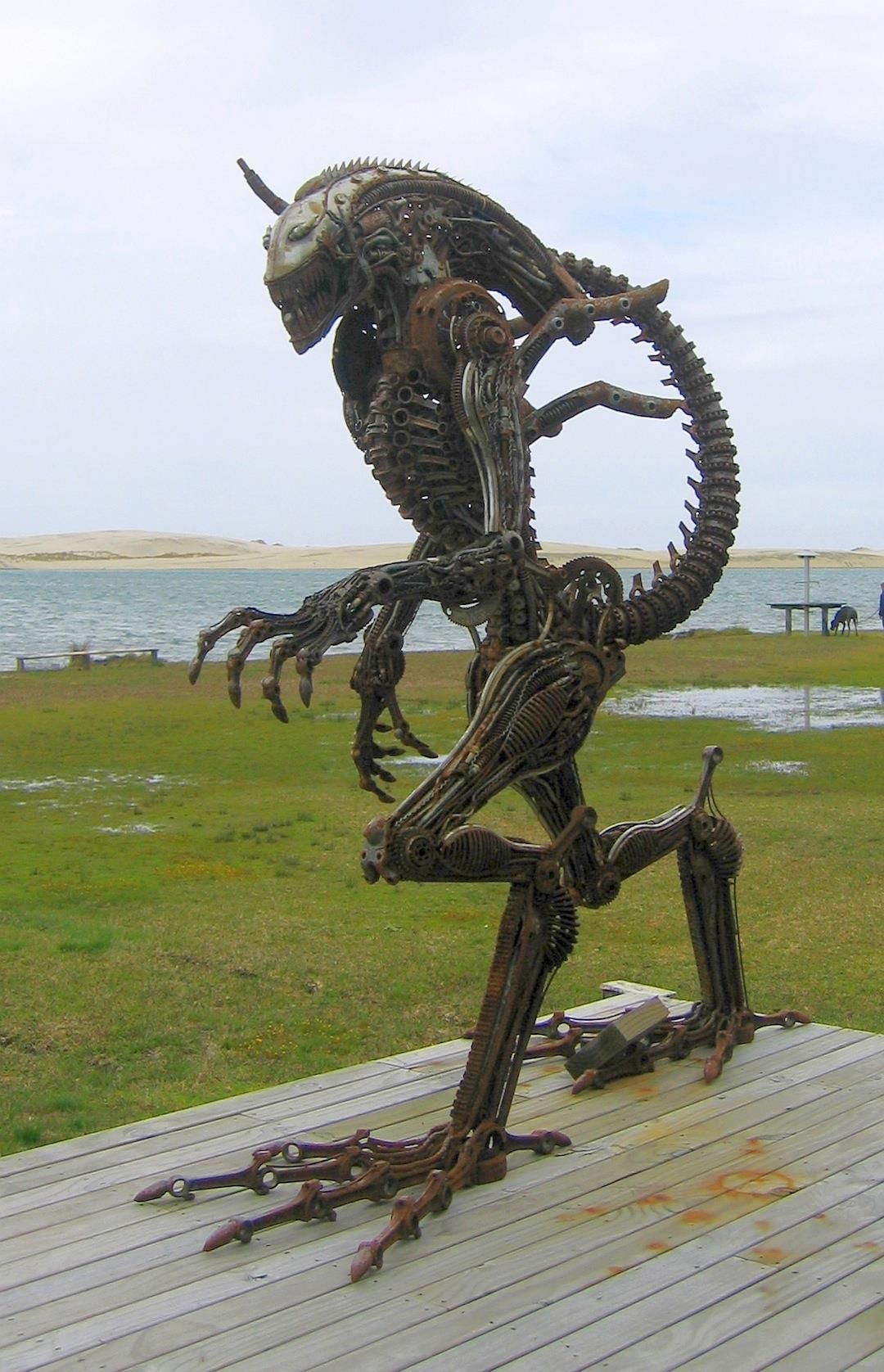 Sculpture from recycled metal.  Now this is putting art to good use.