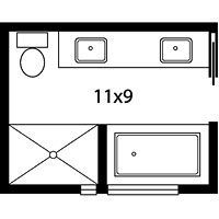 5 Piece Bath Layout