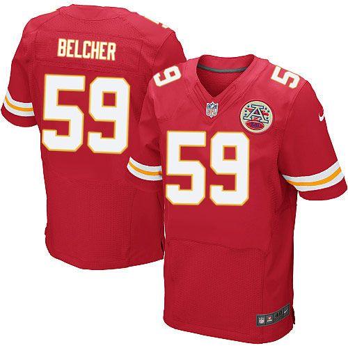 Nike Kansas City Chiefs Mens  59 Jovan Belcher Elite Red Team Color NFL  Jersey free shipping 323f92459