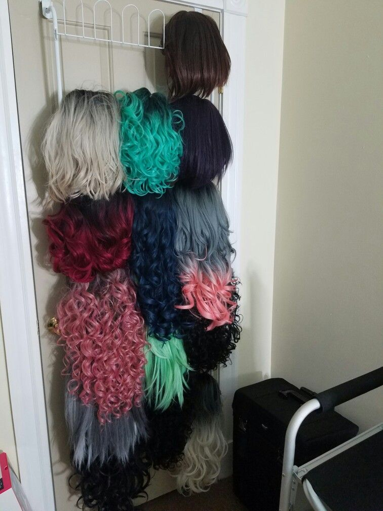Shoe Rack Wig Organization Colorful Hair Wigs Janet