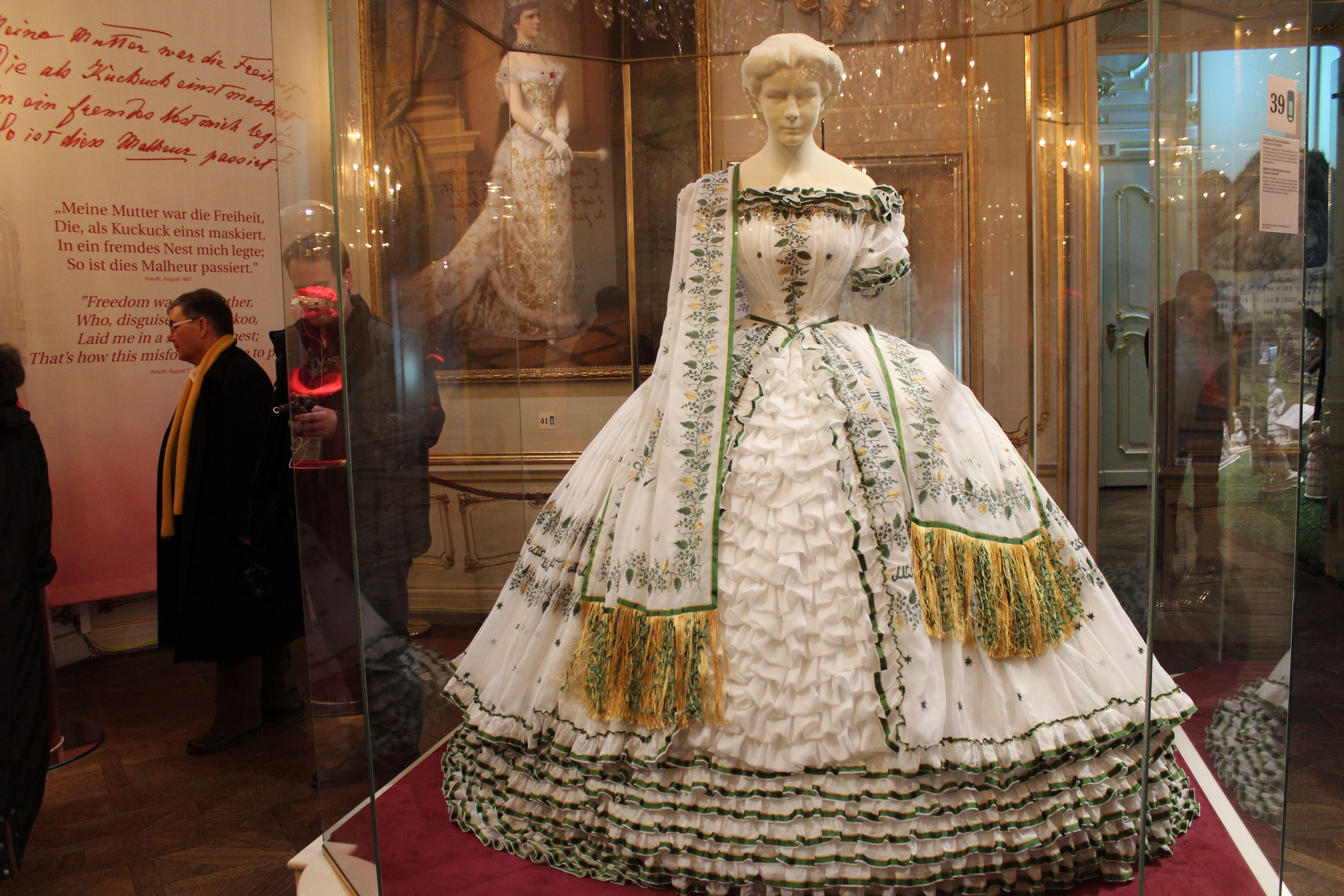 """Elisabeth (""""Sissi"""") of Austria's Trousseau Dress"""