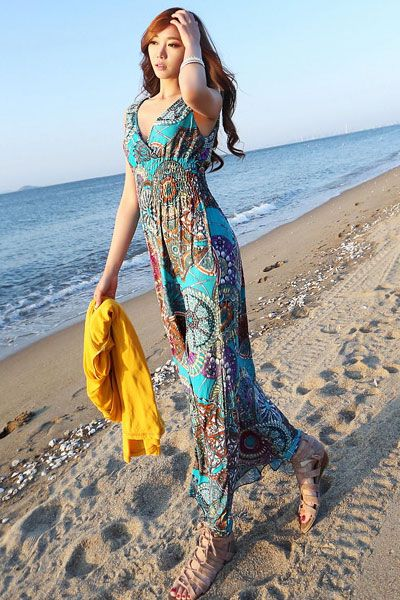 The Perfectly (un)Done Beach Wave looks fab with a maxi dress ...