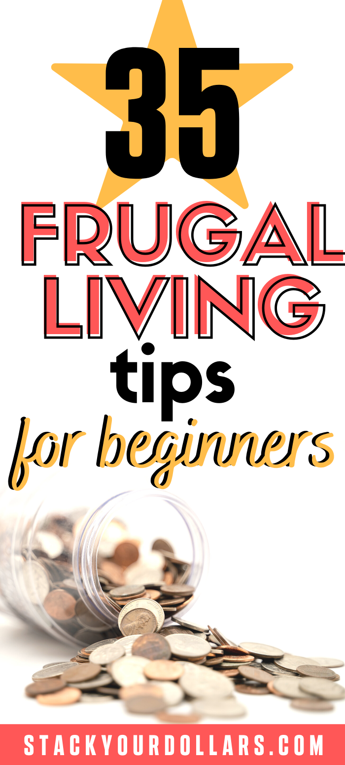If you're looking for ways to save money, these frugal living tips for beginners will help you do it! Learn my penny pinching ways! #StackYourDollars