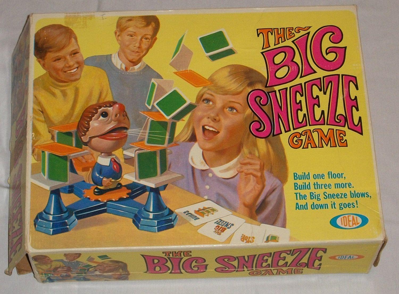 Vintage 1968 The Big Sneeze game by ideal Vintage board