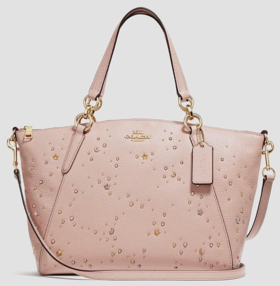 452e82e4 COACH F29597 Small KELSEY Leather Satchel Pink Celestial Studs Rare ...