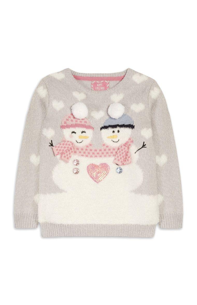 Primark - Pullover mit Schneemännern (kl. Mädchen)