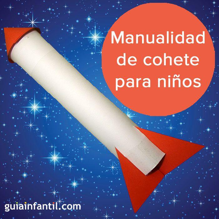 Un simple rollo de papel se puede convertir en un cohete espacial, aprende a hacerlo. http://www.guiainfantil.com/articulos/ocio/manualidades/cohete-de-carton-manualidad-infantil-de-reciclaje/