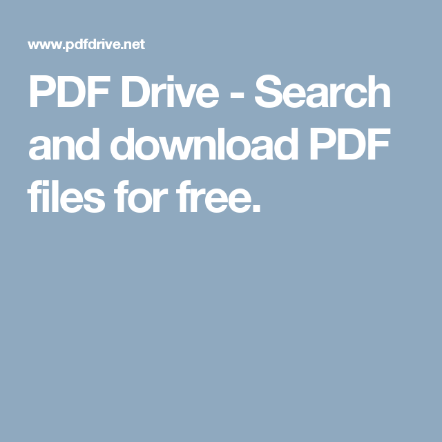 PDF Drive - Search and download PDF files for free. | Pdf download, Pdf,  Books free download pdf