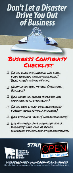 Business Continuity Checklist - Click through this pin for access to