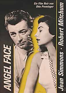 Angel Face (1952) - When Mrs. Tremayne is mysteriously poisoned with gas, ambulance driver Frank Jessup meets her refined but sensuous stepdaughter Diane, who quickly pursues and infatuates him. Under Diane's seductive influence, Frank is soon the Tremayne chauffeur; but he begins to suspect danger under her surface sweetness