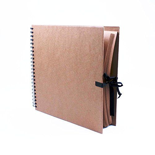 Seawhite Wire-bound Square Kraft Book With 40 Sheets Of