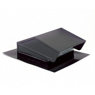 Broan Roof Cap With Built In Damper For 6 In Round Duct In Black Blacks Roof Cap Metal Roof