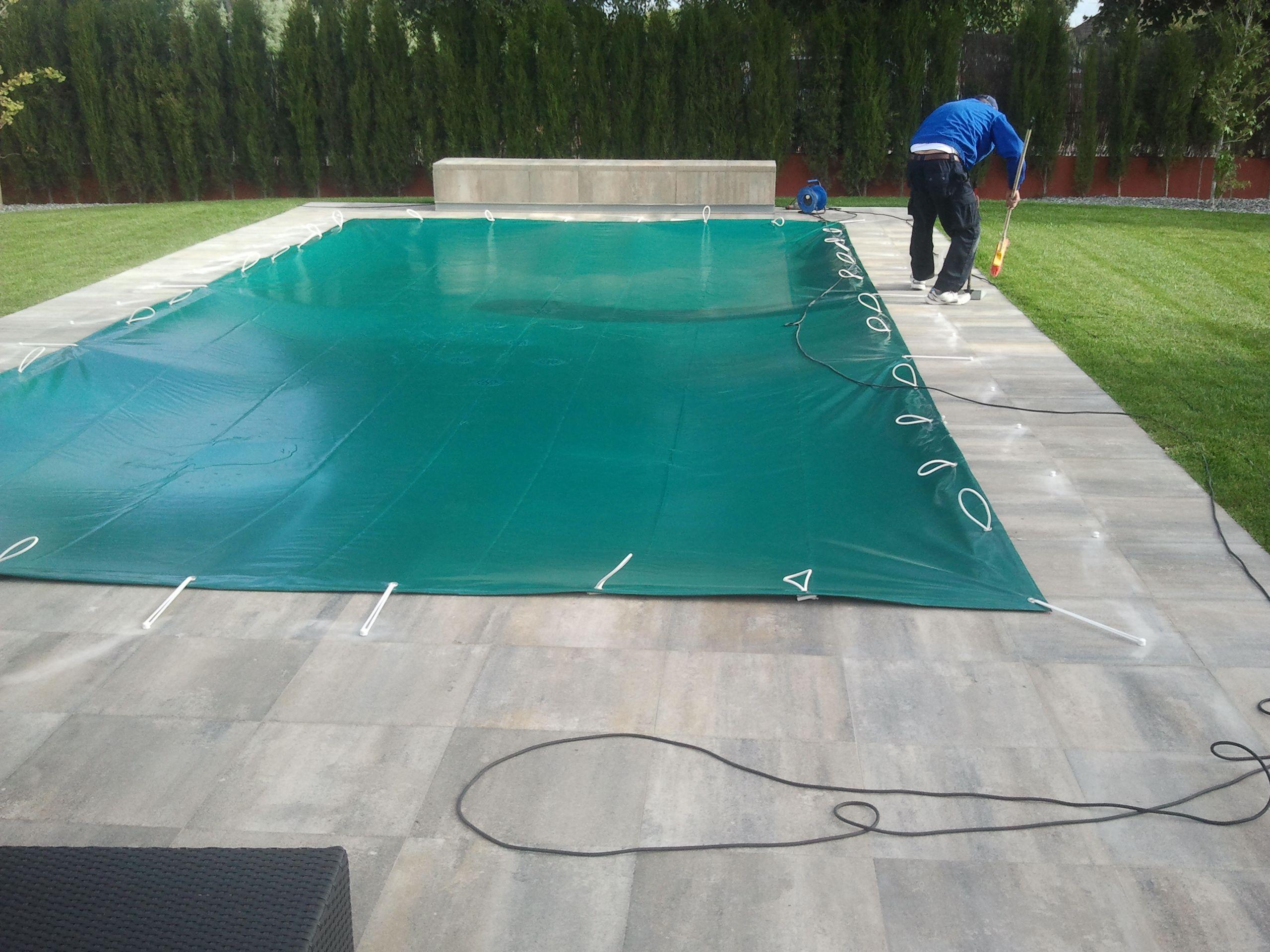 Instalaci n cobertor de invierno de piscina - Instalacion piscina ...