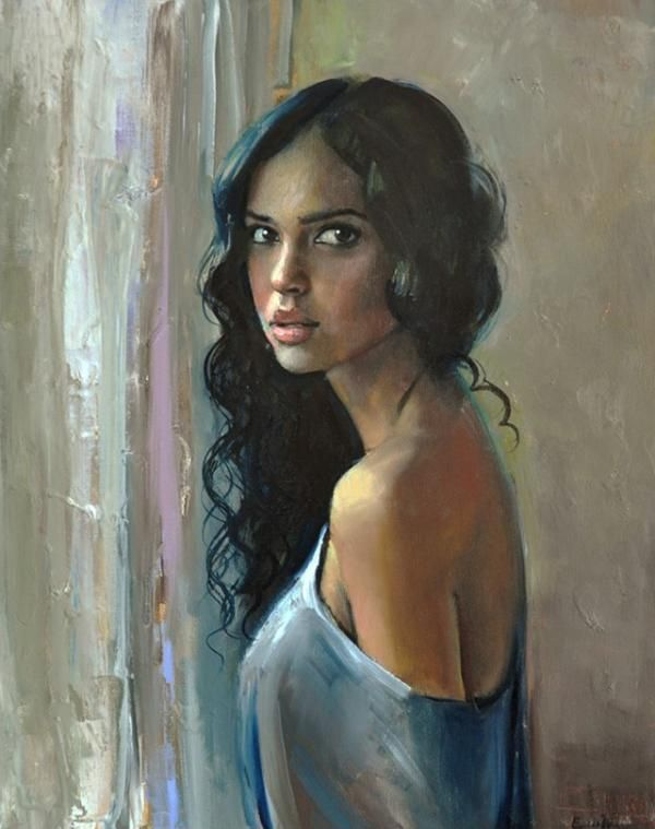 Figurative Paintings by Emilii Wilk | Beautiful, Portrait and ...