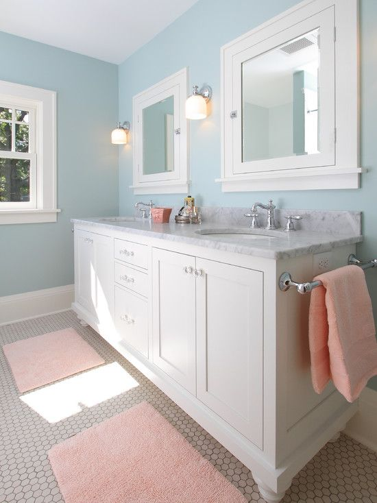 Traditional Blue Bathroom Design Pictures Remodel Decor And - Medicine cabinets for bathrooms for bathroom decor ideas