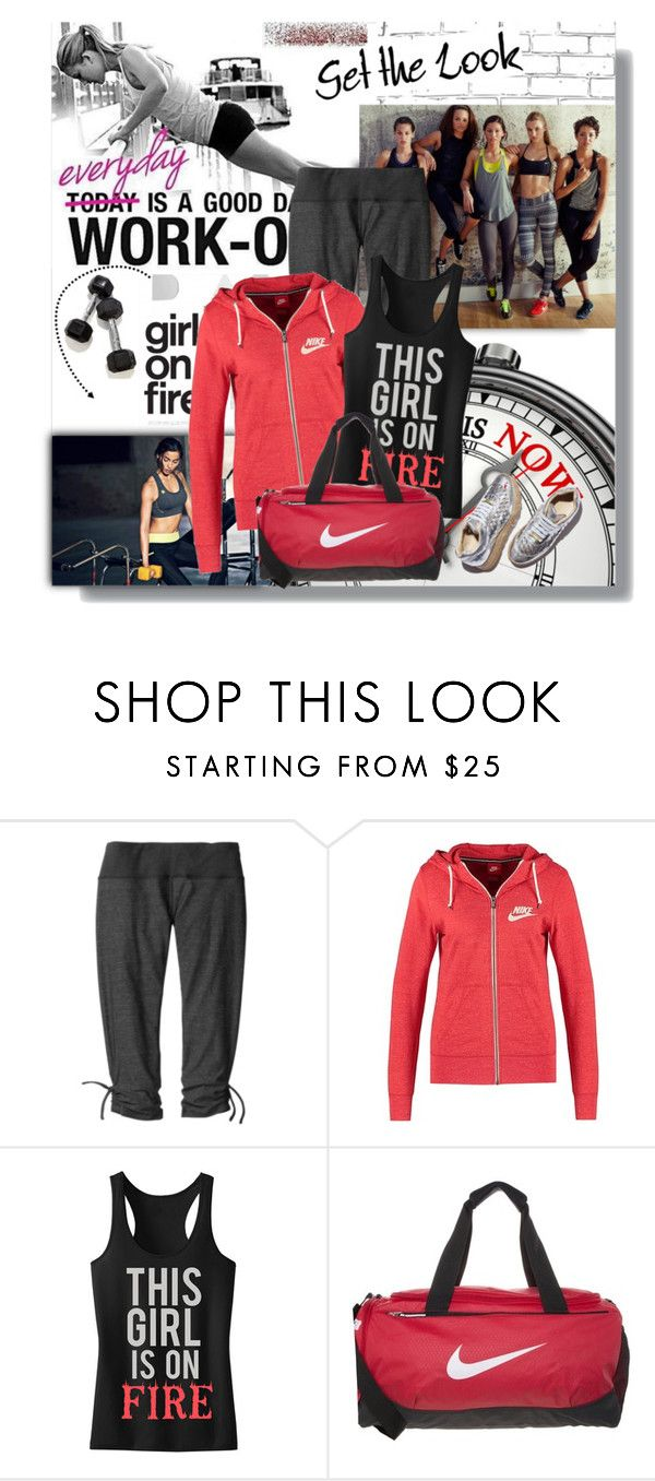 """""""Workout Style"""" by sharoncrotty ❤ liked on Polyvore featuring KOJA, Moving Comfort, STELLA McCARTNEY and NIKE"""