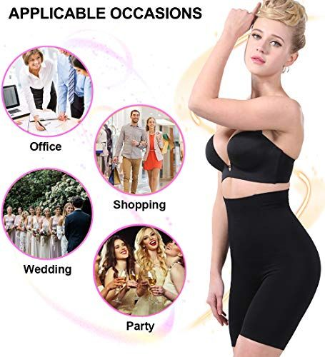 4bd9d94285d9c AIMILIA Body Shaper for Women Tummy Control Shapewear Shorts Thigh Slimmer  Stomach Bodysuit High Waisted Panty