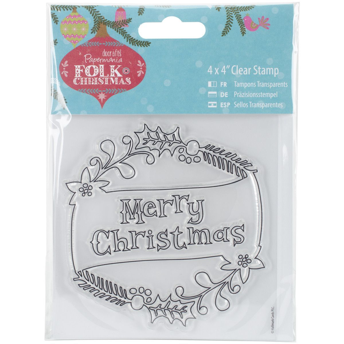Papermania Folk Christmas Clear Stamps Merry Christmas | Products
