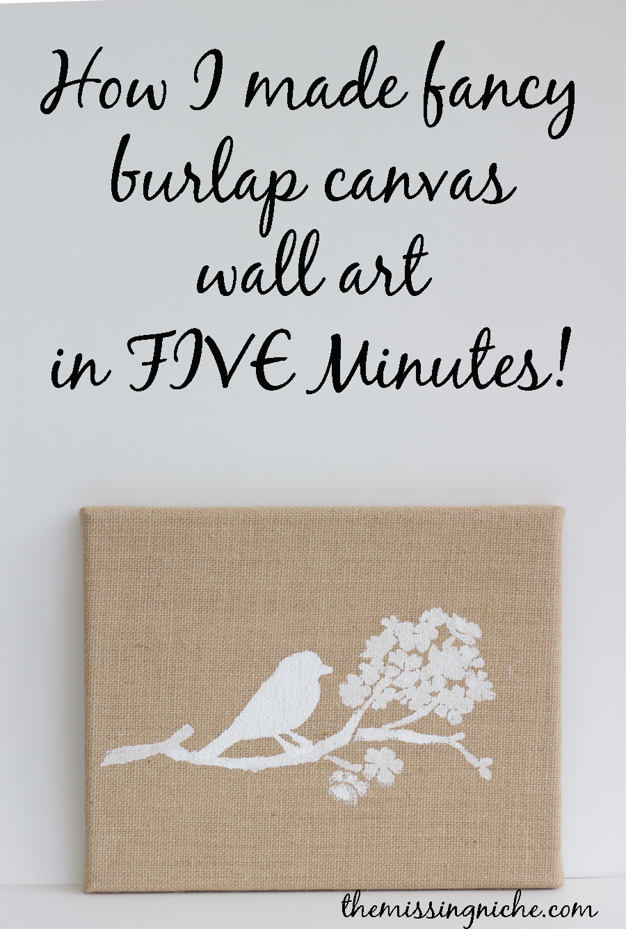Merveilleux How I Made Fancy Burlap Canvas Wall Art In Five Minutes   The Missing Niche