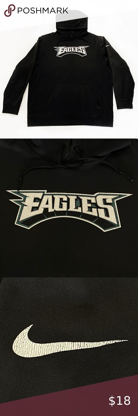 Black Nike Philadelphia Eagles Sweatshirt Hoodi Xl Black Nikes Eagles Sweatshirt Philadelphia Eagles Hoodie [ 1740 x 580 Pixel ]