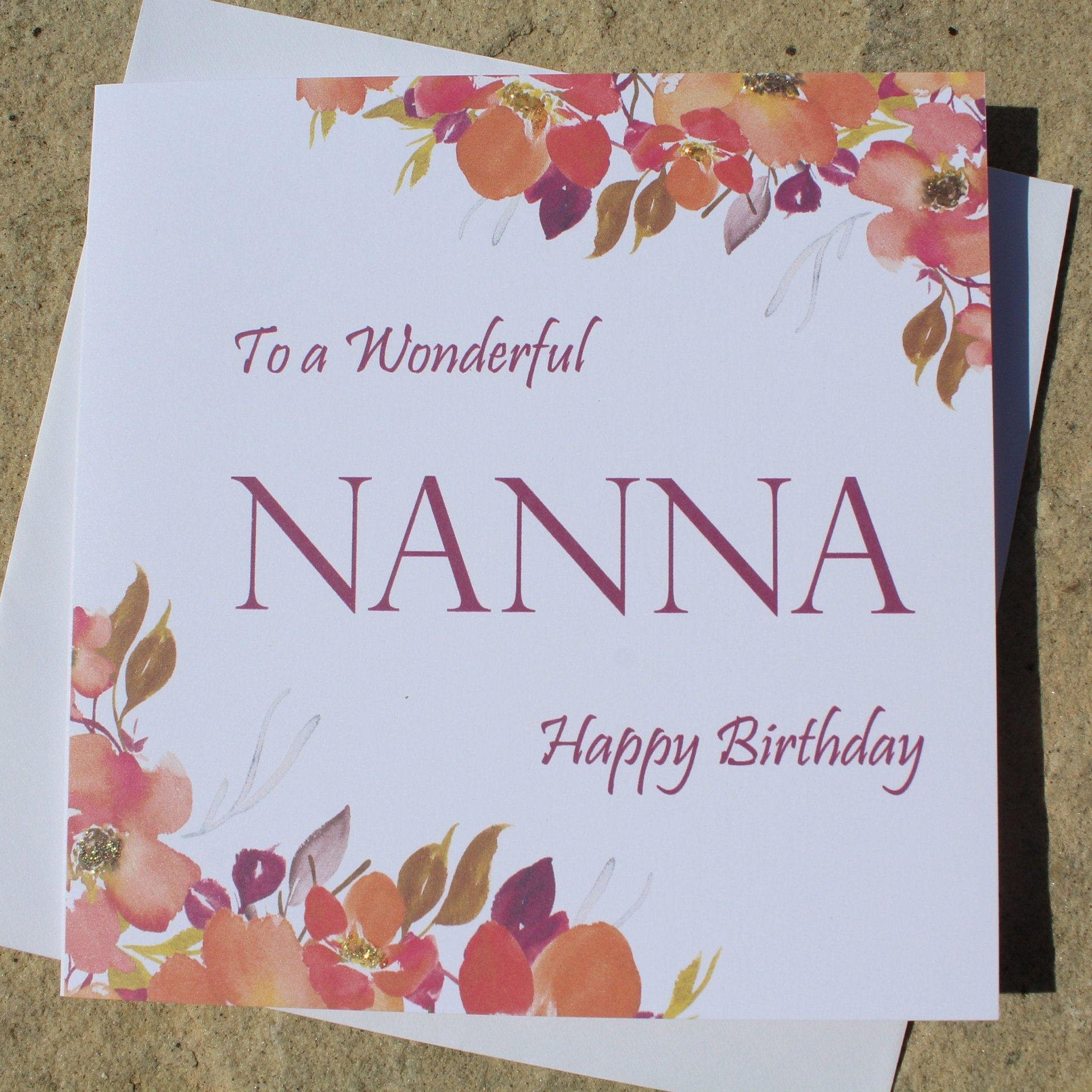 Personalised Happy Birthday Card Nanna Mum Sister Niece Wife Etsy Happy Birthday Cards Birthday Cards Personalized Birthday Cards