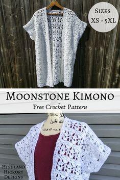 Moonstone Kimono - Highland Hickory Designs - Free Crochet Pattern