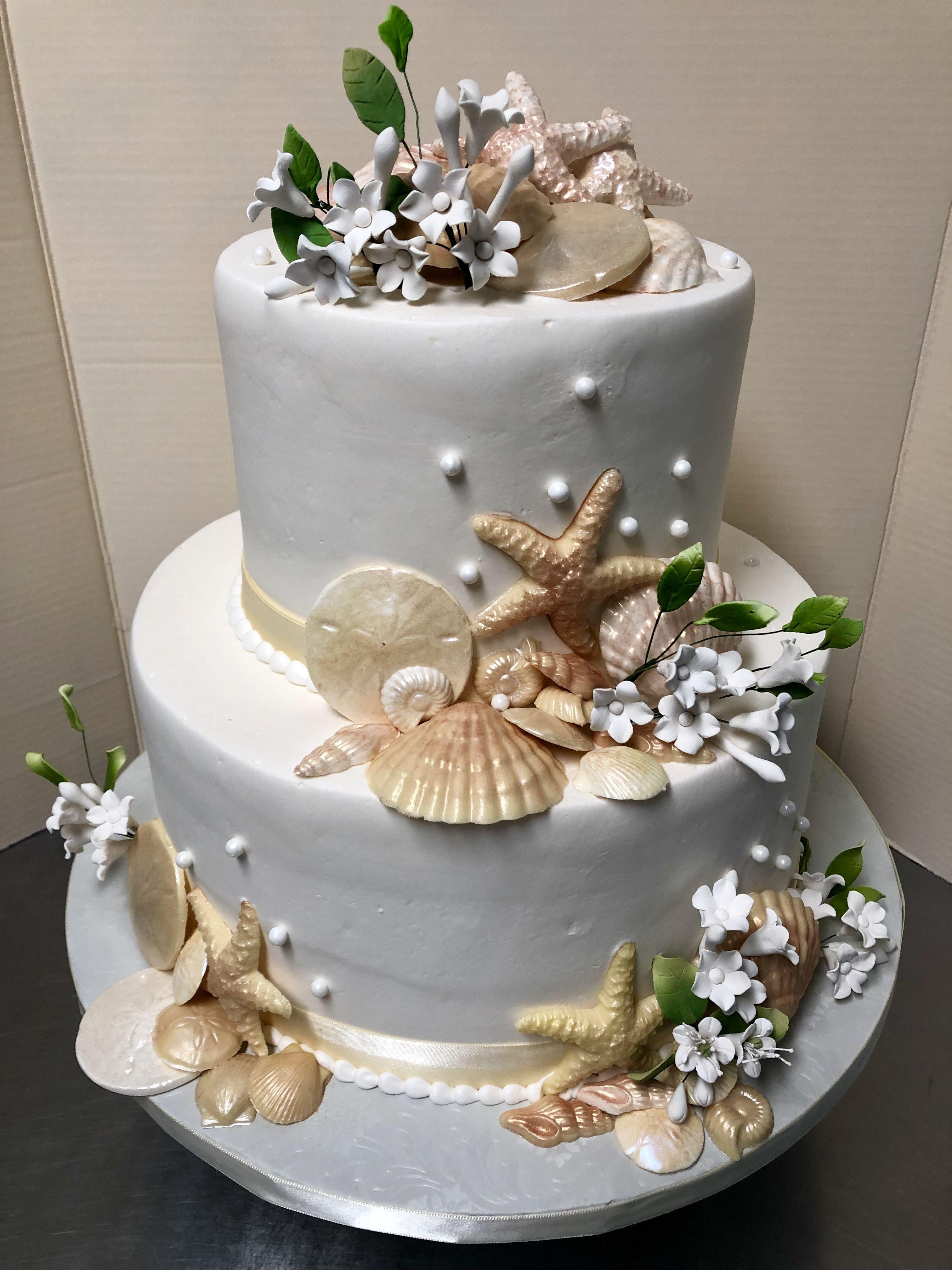Seashell Wedding Cake Beach Theme Wedding Cake Beach Wedding Cake Seashell Wedding Cake Honey Wedding Favors