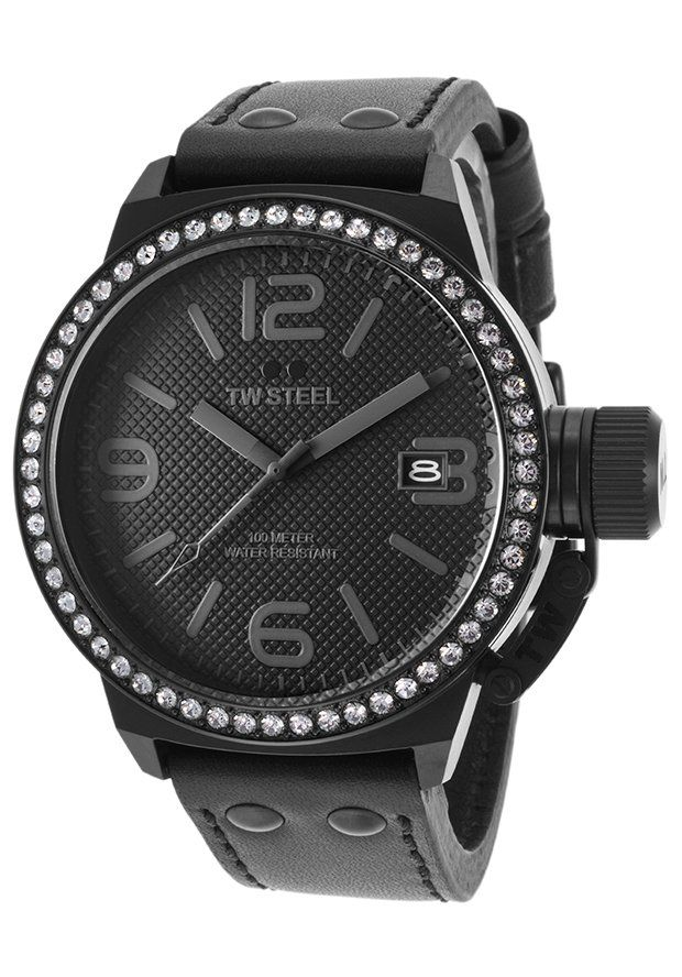 TW Steel Watches Unisex Canteen Black Genuine Leather Black Dial TW912,    #TWSteel,    #TW912,    #Fashion