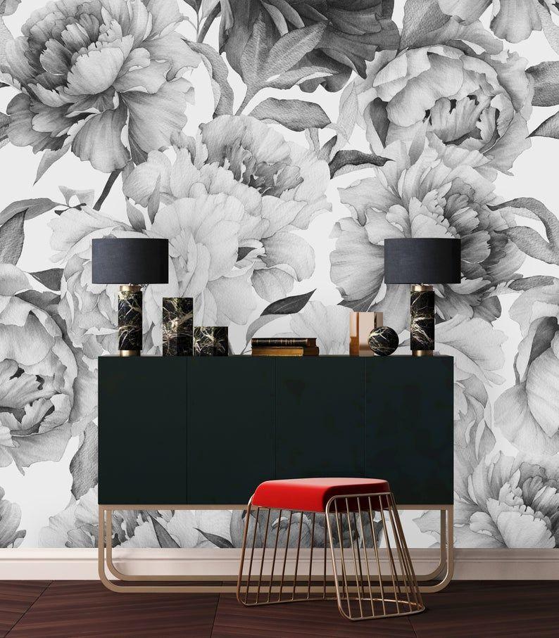 Removable Wallpaper Peel And Stick Wallpaper Self Adhesive Etsy In 2020 Removable Wallpaper Furniture Design Modern Black Walls Bedroom